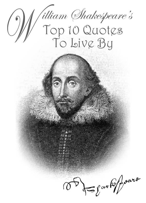 William Shakespeare's Topo 10 Quotes To Live By
